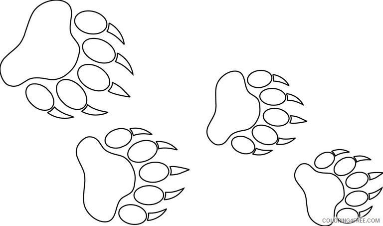 bear tracks about us LuhPjs coloring