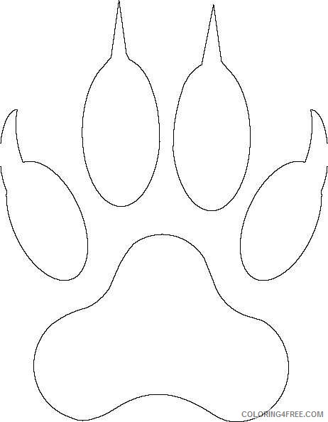 bearcat paw httpwwwclkercomclipart 4html picture cFK1C6 coloring