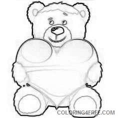 bears with love hearts cartoon bears cartoon more KK9TiG coloring
