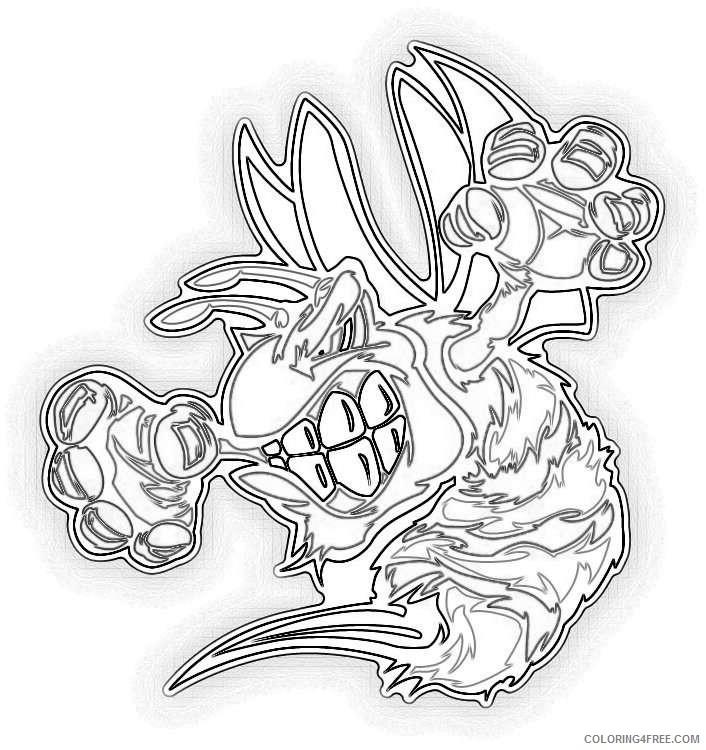 Cartoon Wildebeest Animal Mascot Car Bumper Sticker Decal /'/'SIZES/'/'