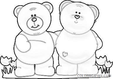 best friend bears two bears standing with arms around one another Ua0LpR coloring