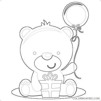 birthday bear svg cut file birthday svg files birthday svg cutting 4KTXpq coloring