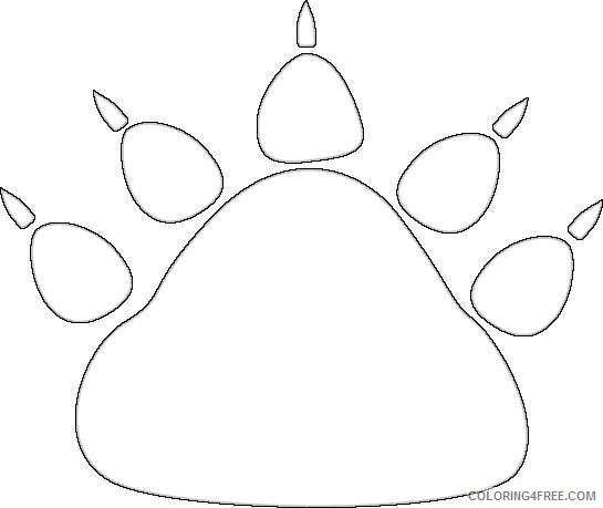 black bear paw print black bear paw print fVPYK0 coloring