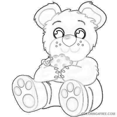 brown baby cute baby brown bears 2 3CO4St coloring