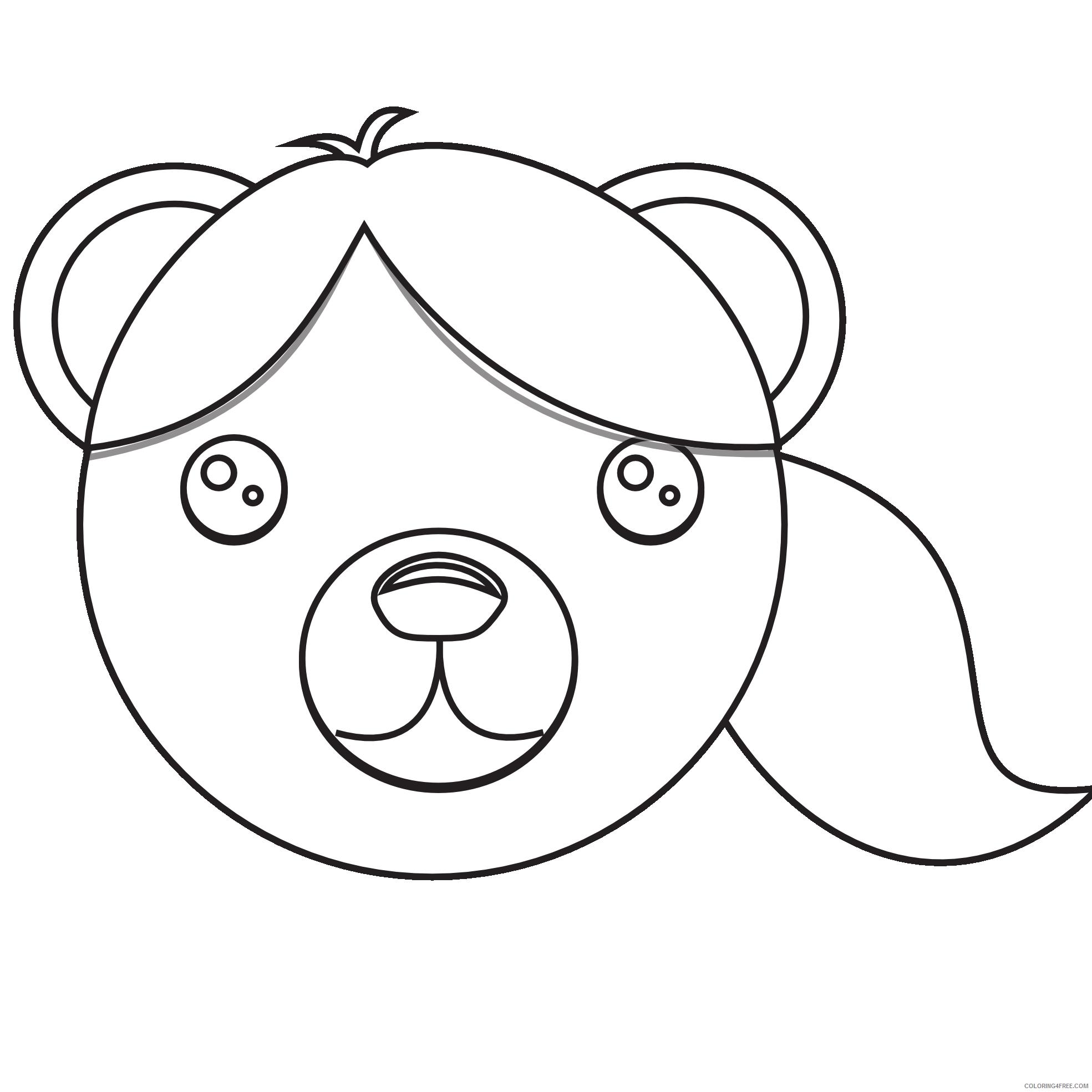 brown bear black white line art coloring book colouring coloring book qxd7nv coloring