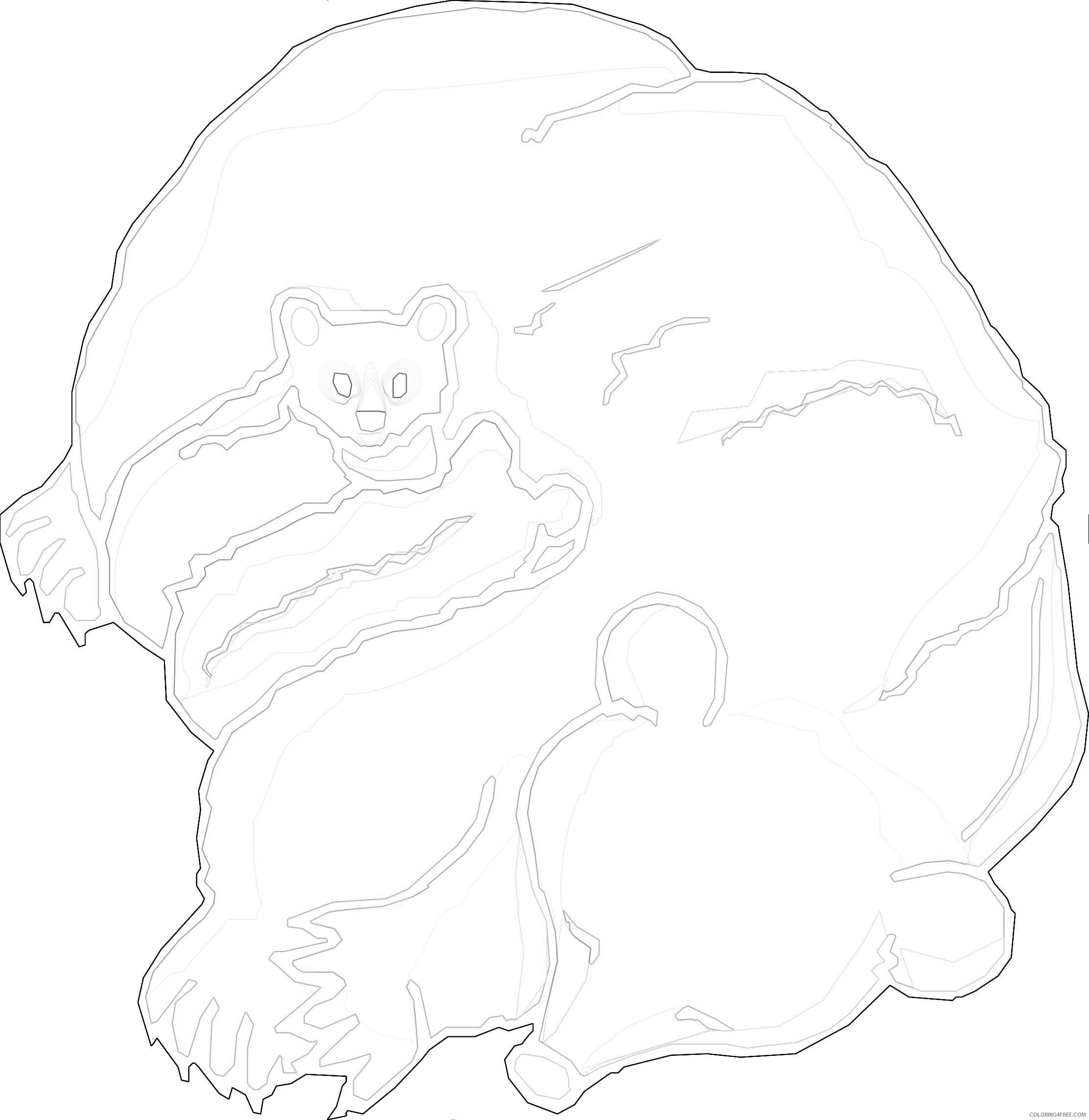 cartoon bear coloring