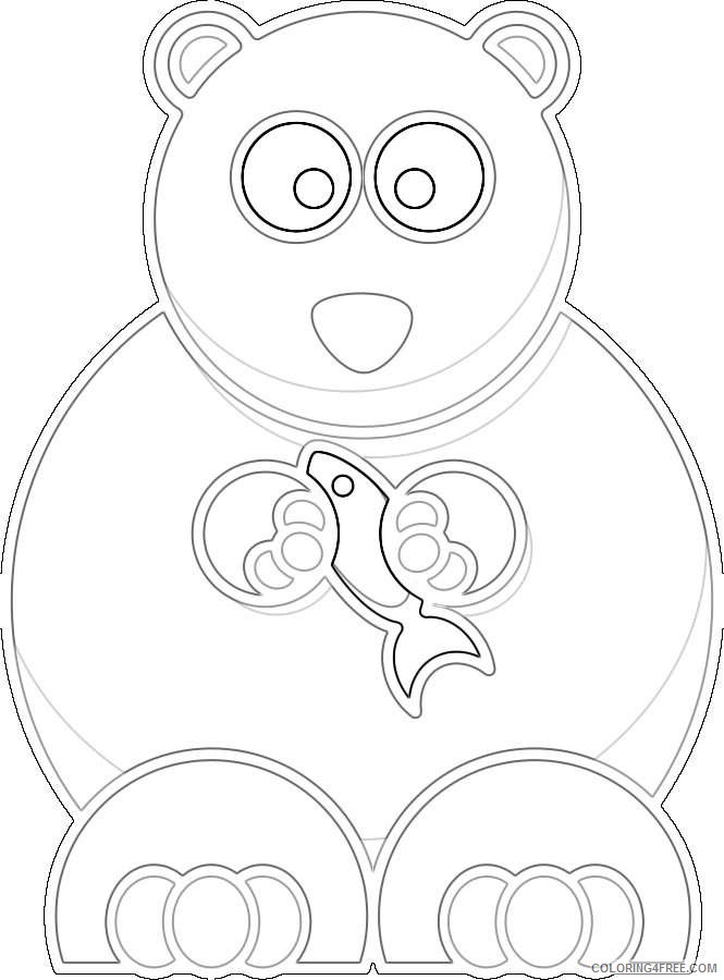 cartoon bear design coloring