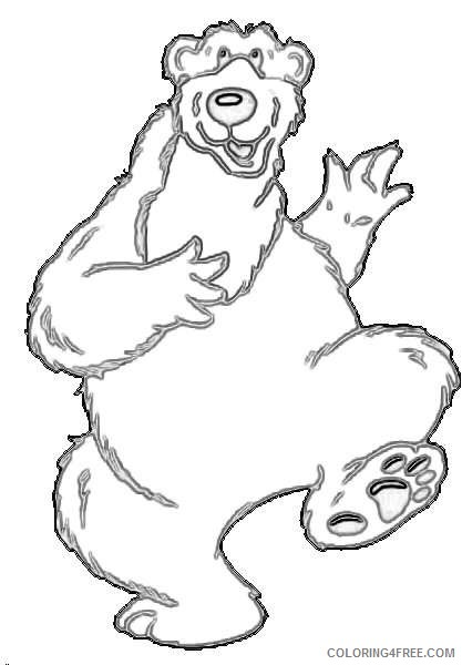 cartoon bear in open office drawing svg coloring