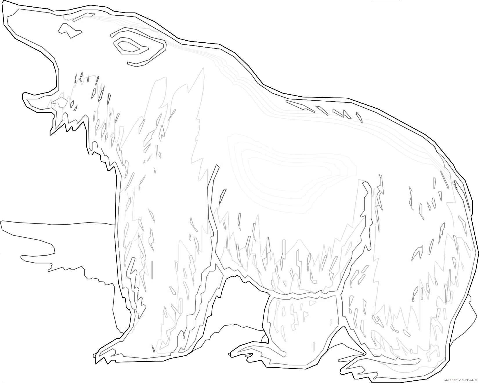cartoon bearcow coloring