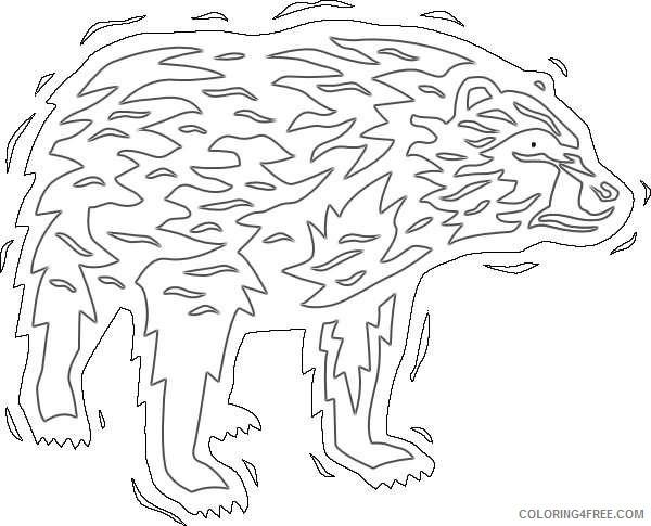 cartoon black bear online pmQmkO coloring