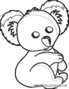 cartoon koala bear AEc9aH coloring