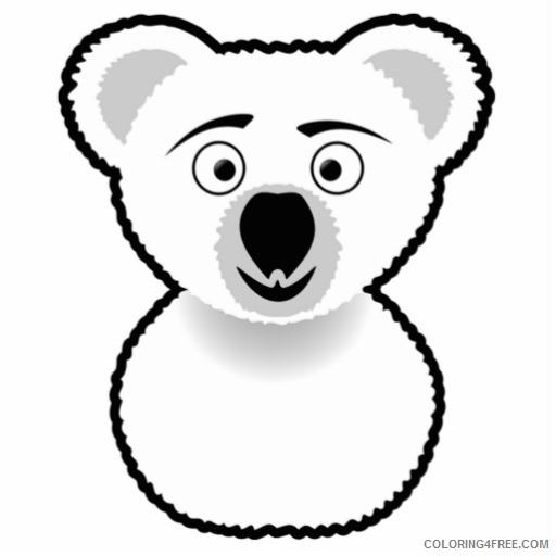 cartoon koala bear photo cutout zazzle LPqCMJ coloring