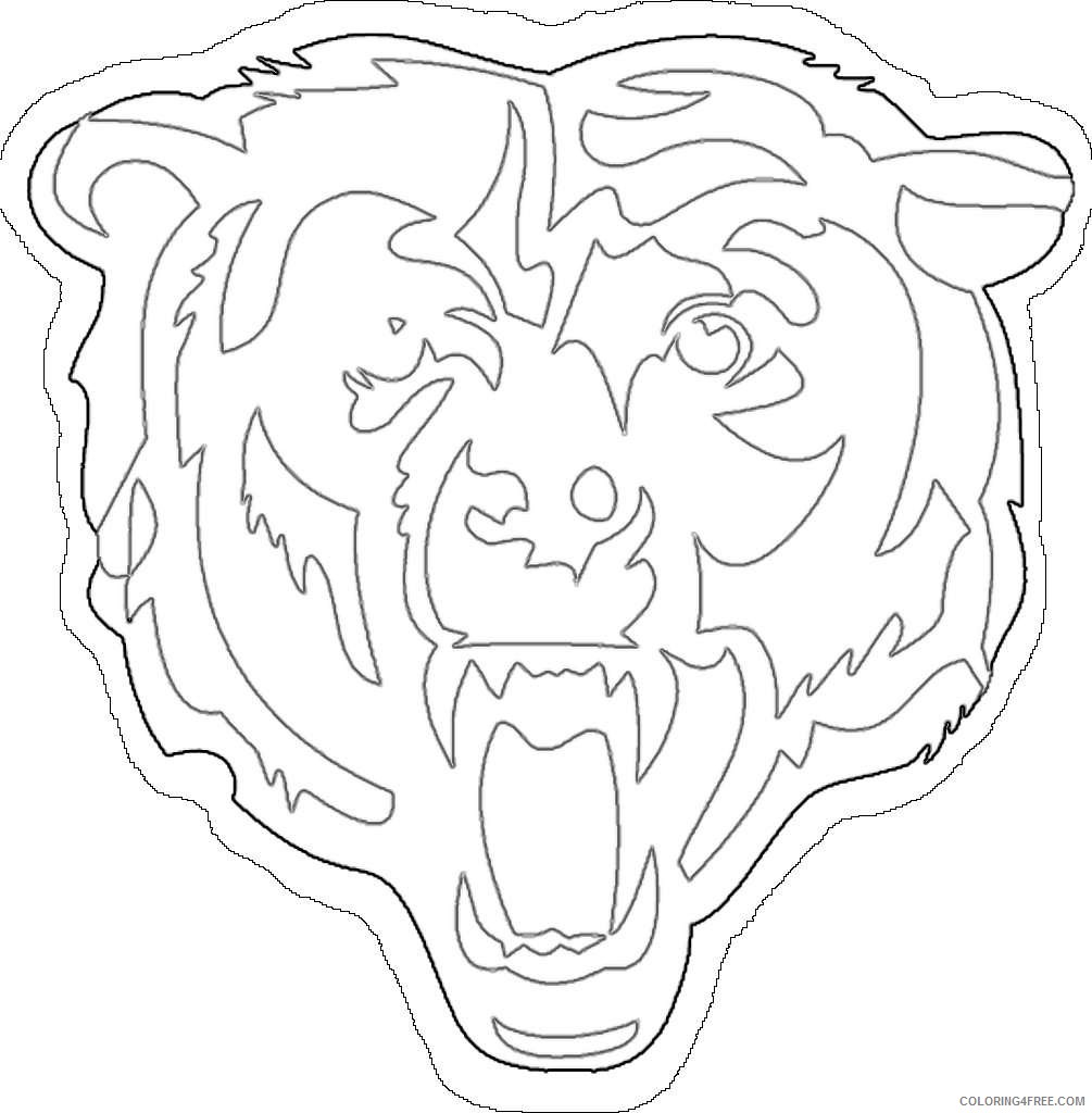 chicago bears logo national football league football team SDNtVS coloring
