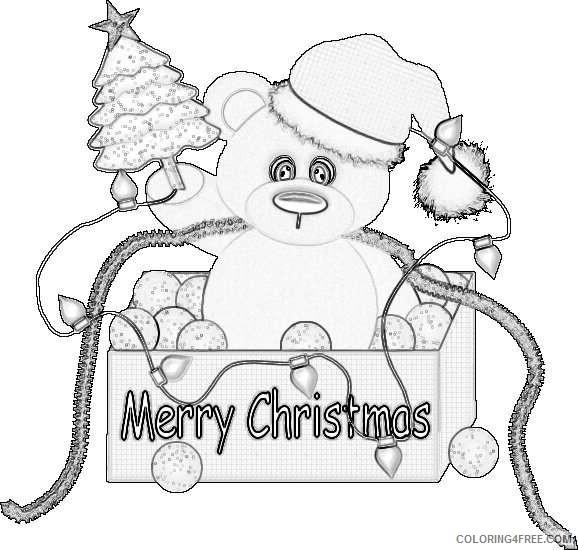 christmas bear co eL0KgG coloring