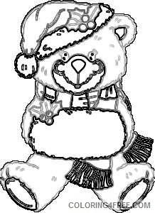 christmas bear jvcM4H coloring