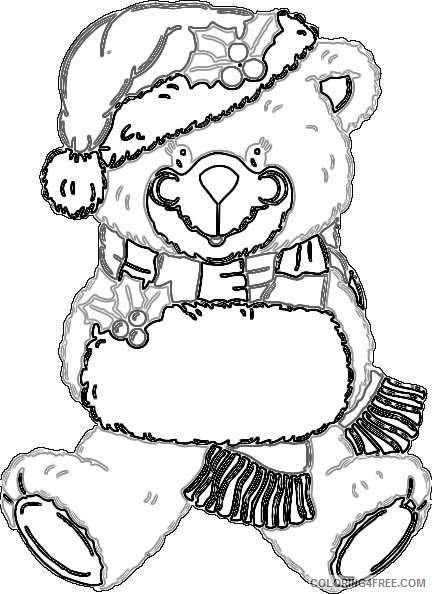 christmas bear online U86DKk coloring
