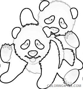 clipart cartoon drawing of two baby bear cubs playing NJIDlv coloring