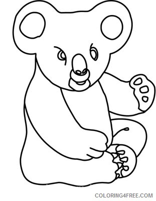clipart view black and white animals koala bear 212 3 LOvYxH coloring