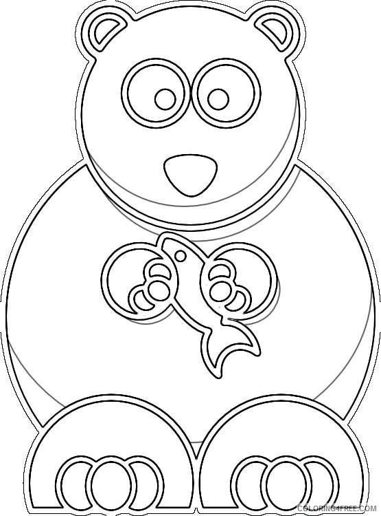 clipartist net lemmling cartoon bear black white line vPy7jG coloring