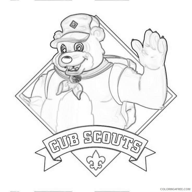 cub scouts bear cubs pinterest vREQ8w coloring