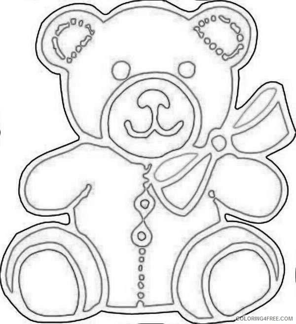 cute baby bear M4QsH5 coloring