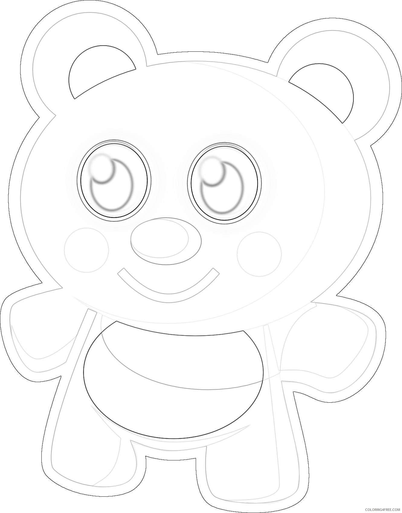 cute bear c1habQ coloring
