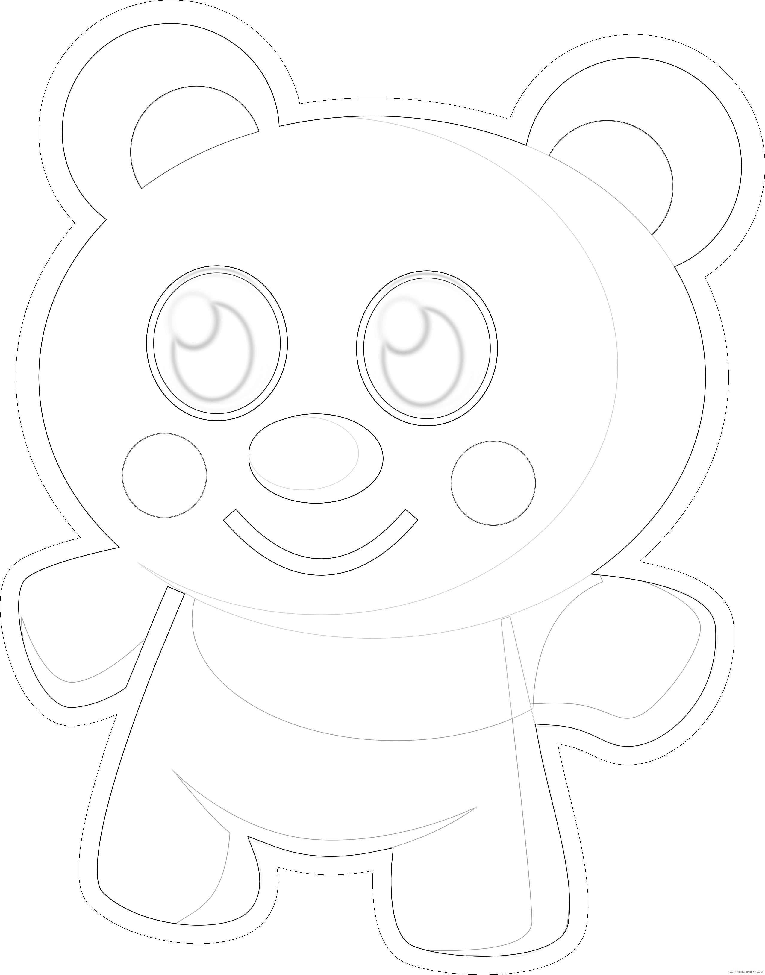cute bear fJFcT9 coloring