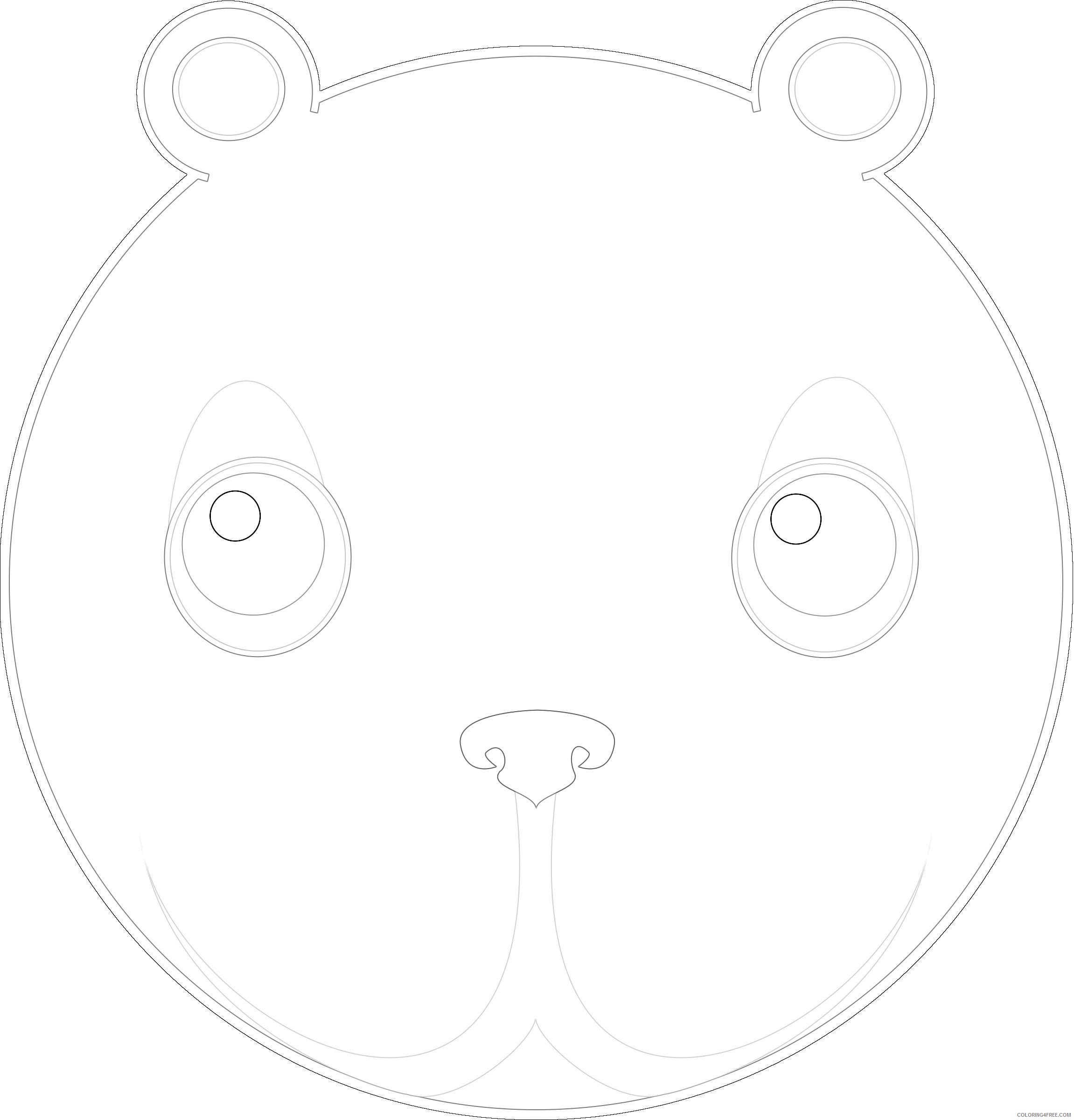 cute bear head by ikabezier V7GSds coloring