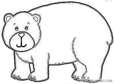 cute brown bear coloring