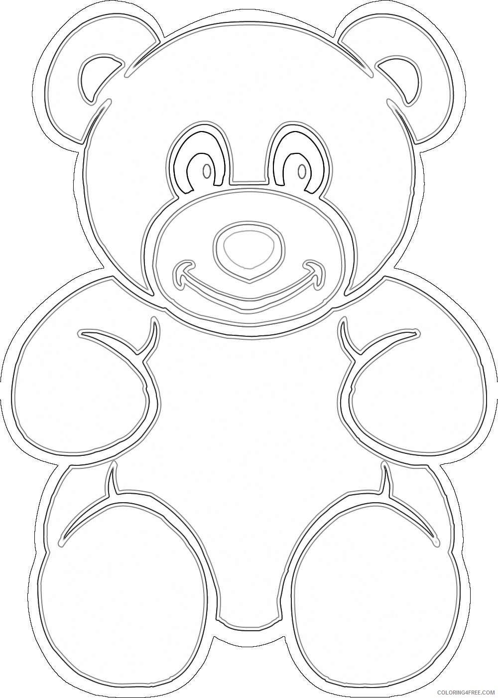 cute brown bear l4XAyD coloring