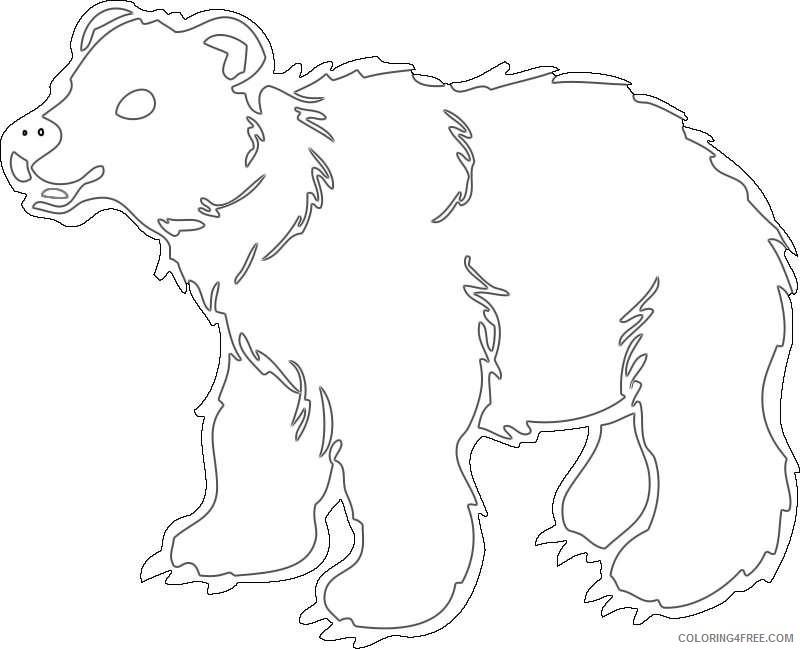 cute brown bear snXelT coloring