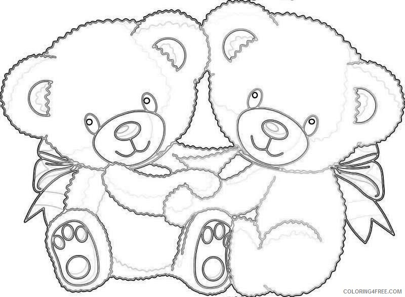 cute cartoon bear A1lgeW coloring