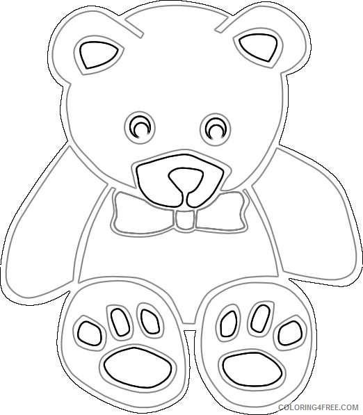 cute school bear 2 coloring