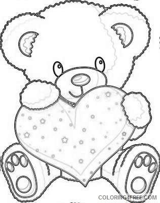 cute valentine bear d3Z0U0 coloring