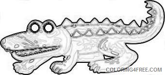 funny alligator crocodile pictures crocodile 3 coloring