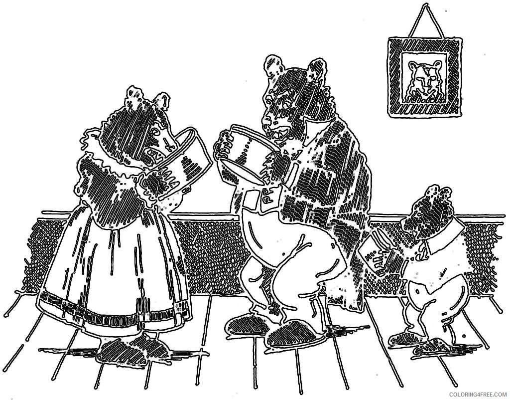 goldilocks three bears hasso Qecg3V coloring