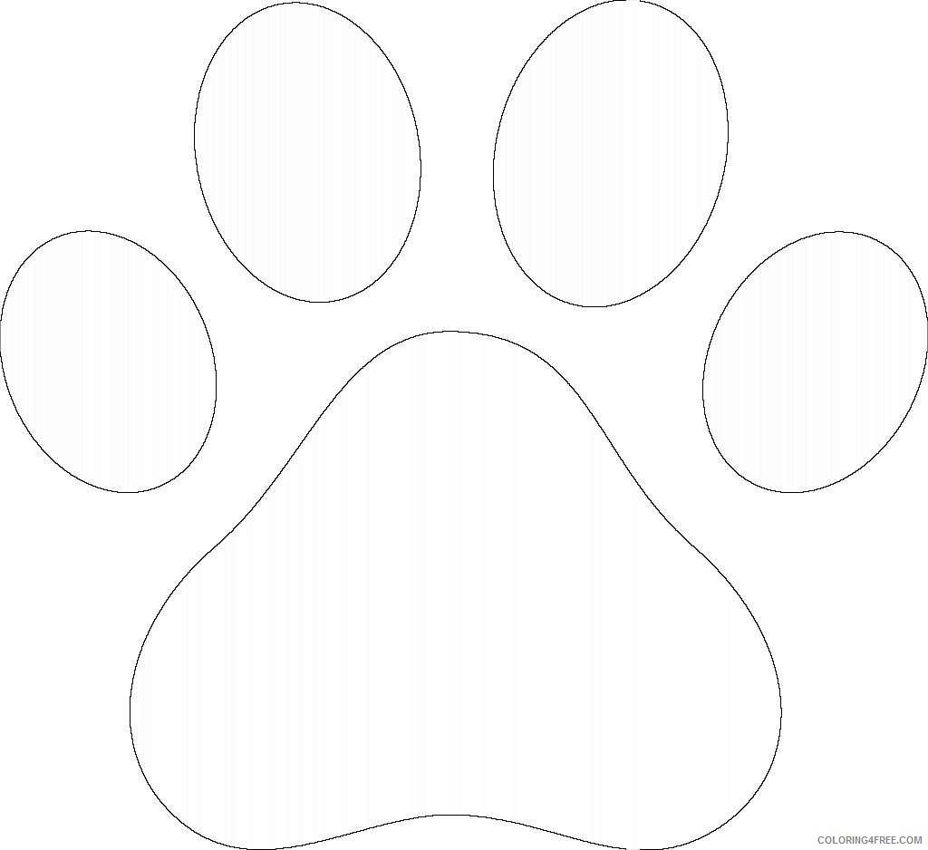 green bear paw print paw tHuXOH coloring