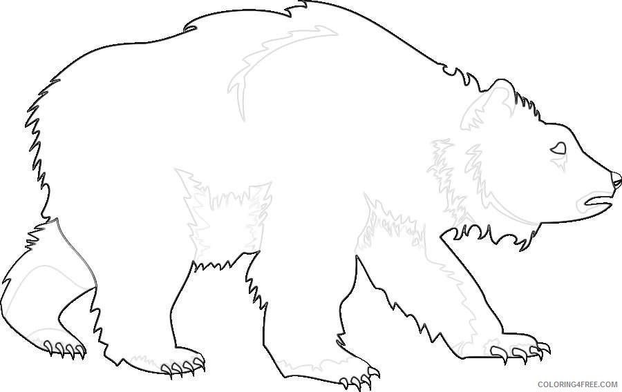 grizzly bear bear grizzly for you 2 coloring