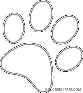 grizzly bear paw print 1agQMU coloring