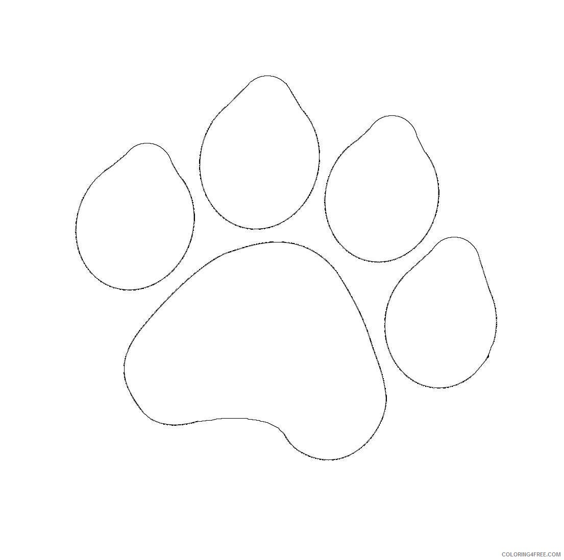 grizzly bear paw print Zm9KFB coloring