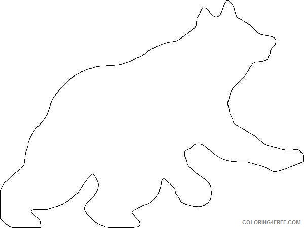 grizzly bear silhouette running bear fTH21j coloring