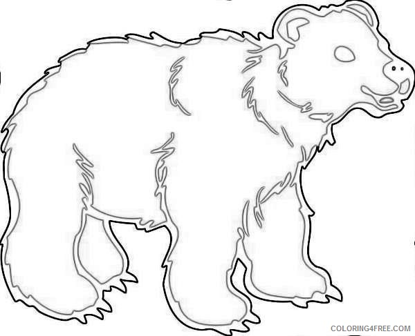 grizzly bear silvertip bear graphics coloring