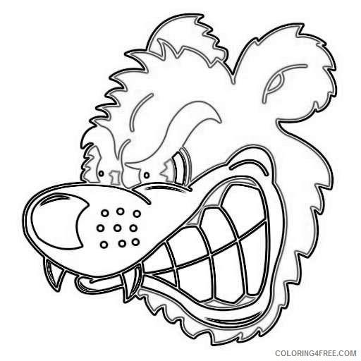 growling bear cartoon angry growling bear face photo ODMgUf coloring