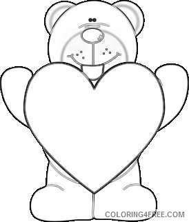 heart of a purple nose bear holding a giant red heart 8Zyrlo coloring