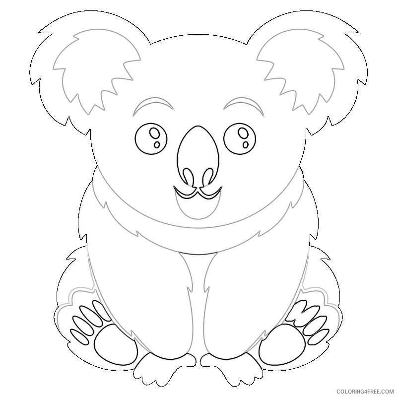 koala bear this lovable koala is sRFXbu coloring