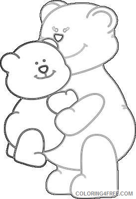 mother s day hugs baby bear hugging a mama bear for BIHaVM coloring