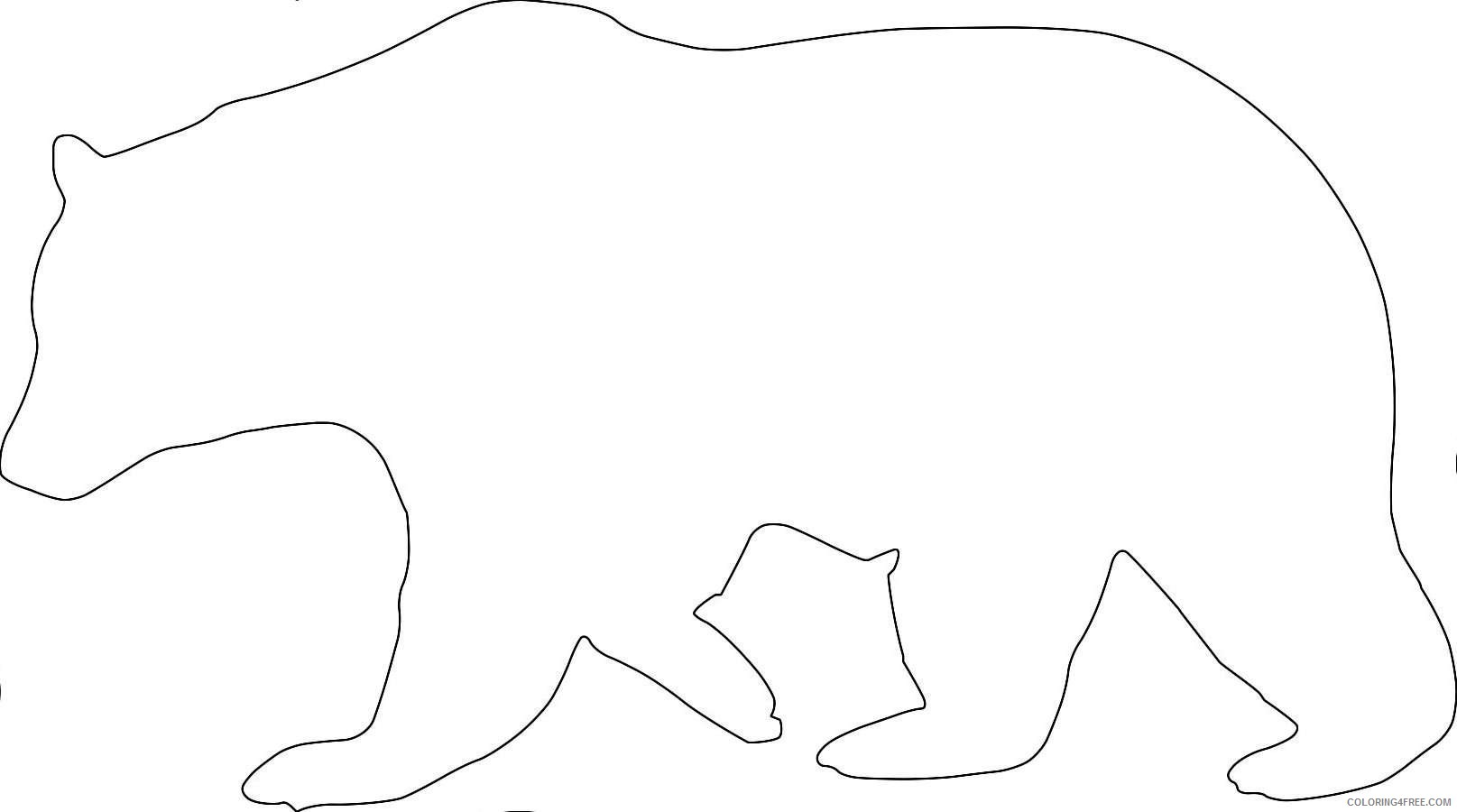 outline of black bear photos good pix gallery Zsf0di coloring