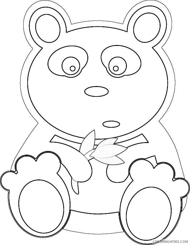 panda with bamboo leaves by adam lowe a cute cartoon bear OC2XNk coloring
