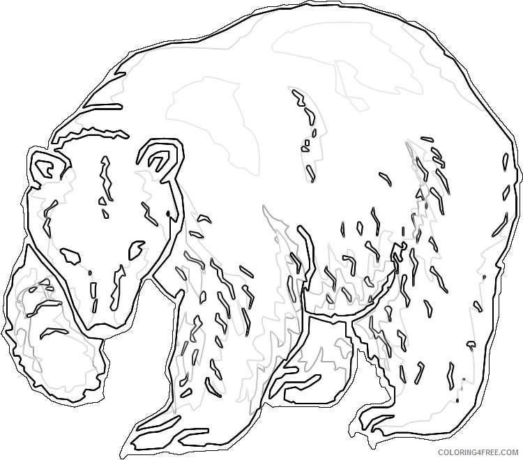 polar bear black and white HqxUIV coloring