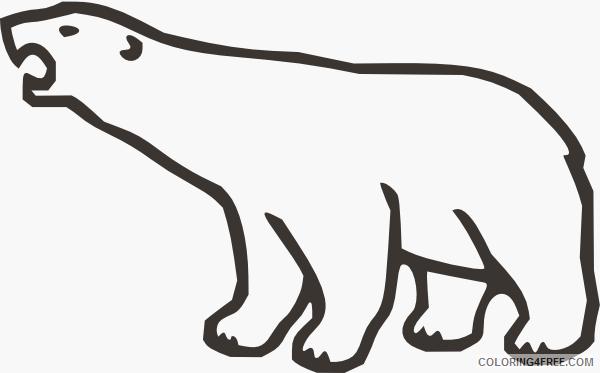 polar bear online sZCHZS coloring